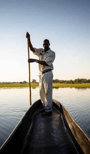 A mokoro in the Okavango Delta