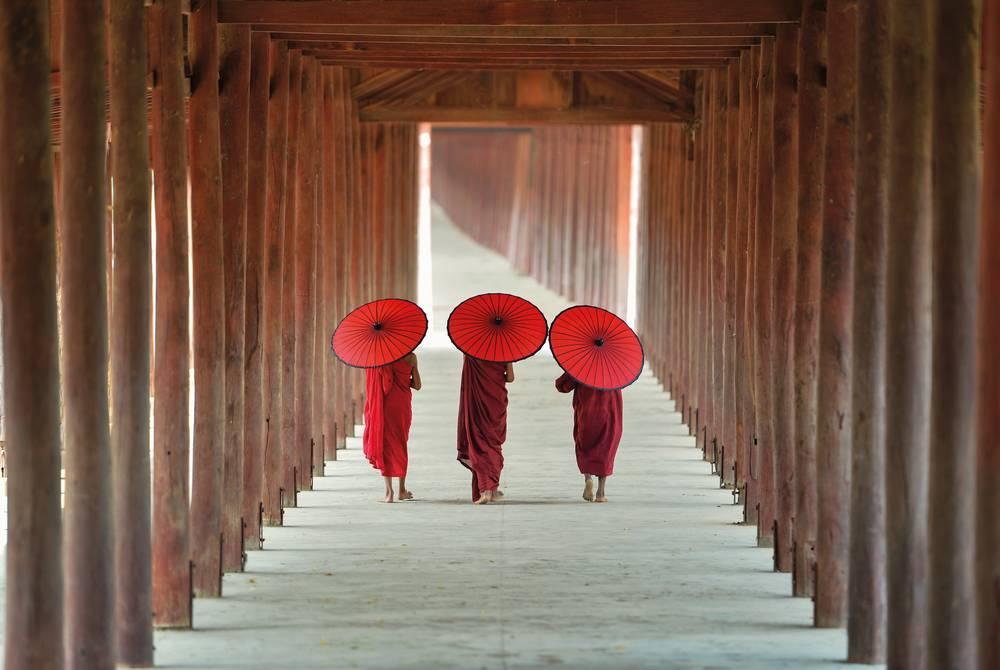 Monks in Bagan, Myanmar