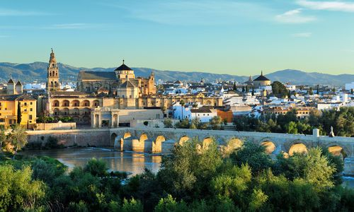 Mosque-Cathedral and Romano Bridge, Cordoba, Spain