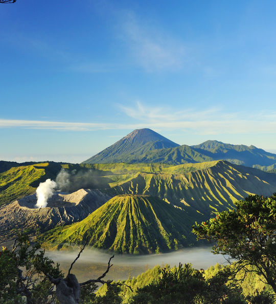 View over volcanic Mt. Bromo