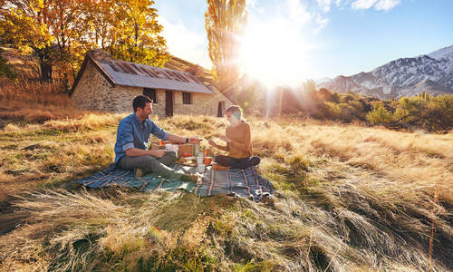 Mountain picnic, Queenstown, New Zealand