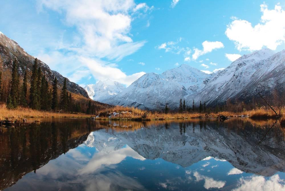 Mountains and lake, Alaska