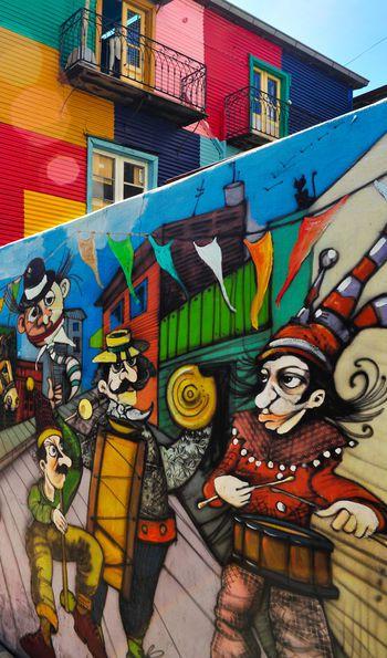 Mural in La Boca neighbourhood, Buenos Aires