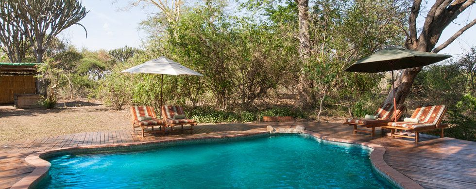 Swimming Pool, Mvuu Lodge, Malawi