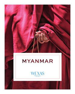 Cover for brochure Myanmar (Burma)