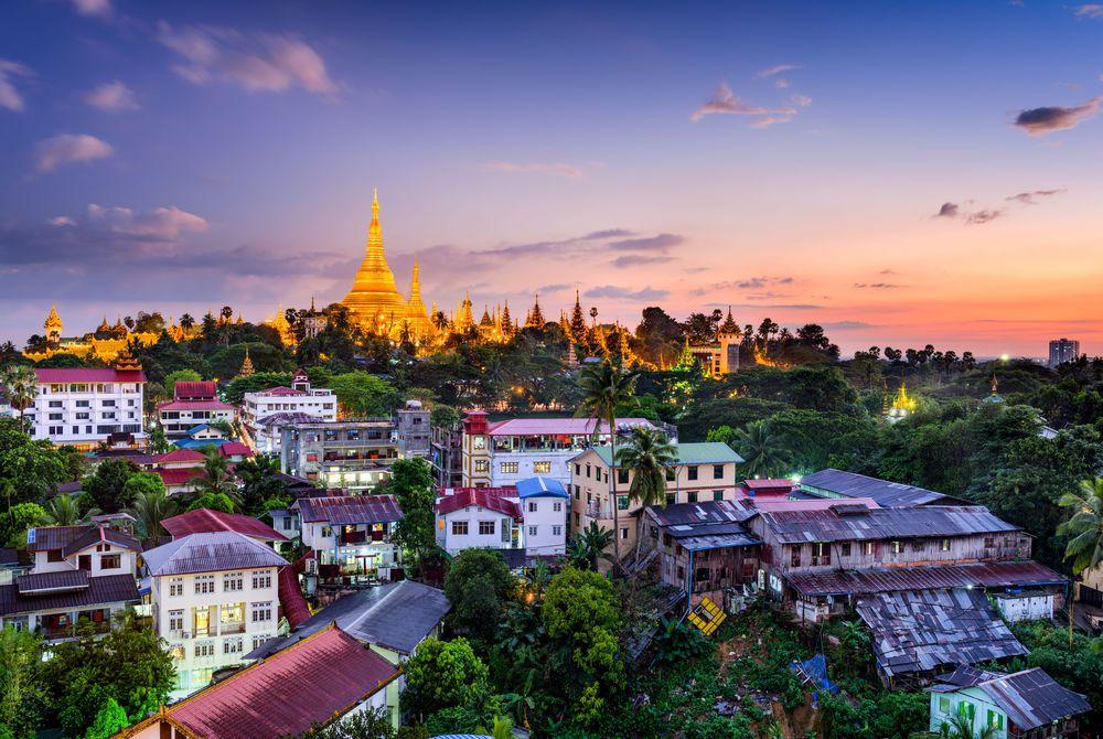 Myanmar skyline, Yangon