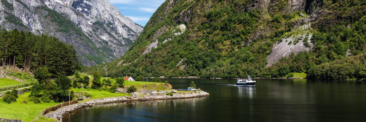 Naerofjord from Gudvangen Sognefjord Norway