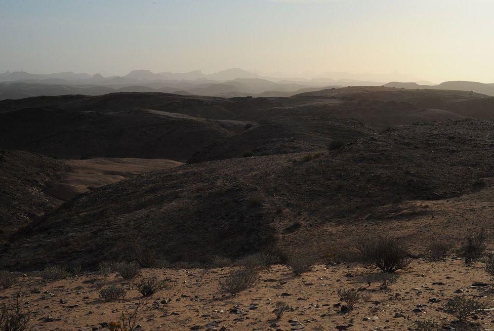 Namibian landscape at dusk