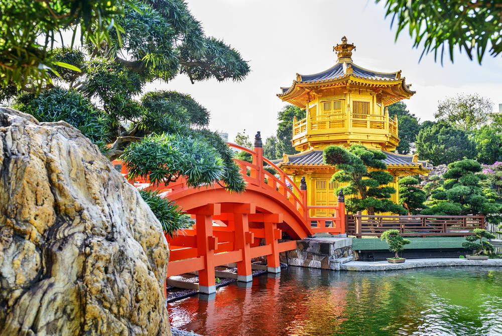 Nan Lian Garden in Kowloon, Hong Kong