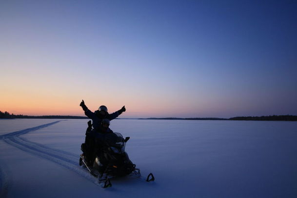 Snowmobiling at Wilderness Hotel Nangue