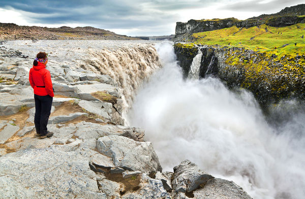 Dettifoss Waterfall in Vatnajokull National Park, Northeast Iceland