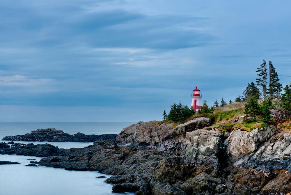 Lighthouse on the coast of New Brunswick Canada