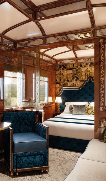 Grand suite aboard the Orient Express
