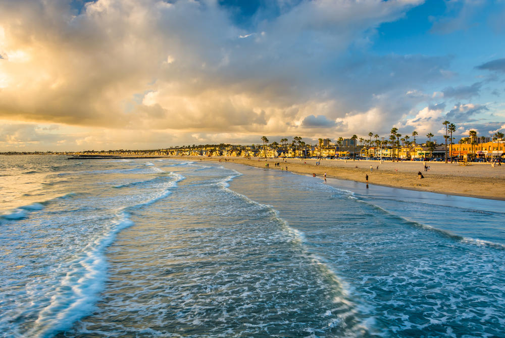 Newport Beach surf in California
