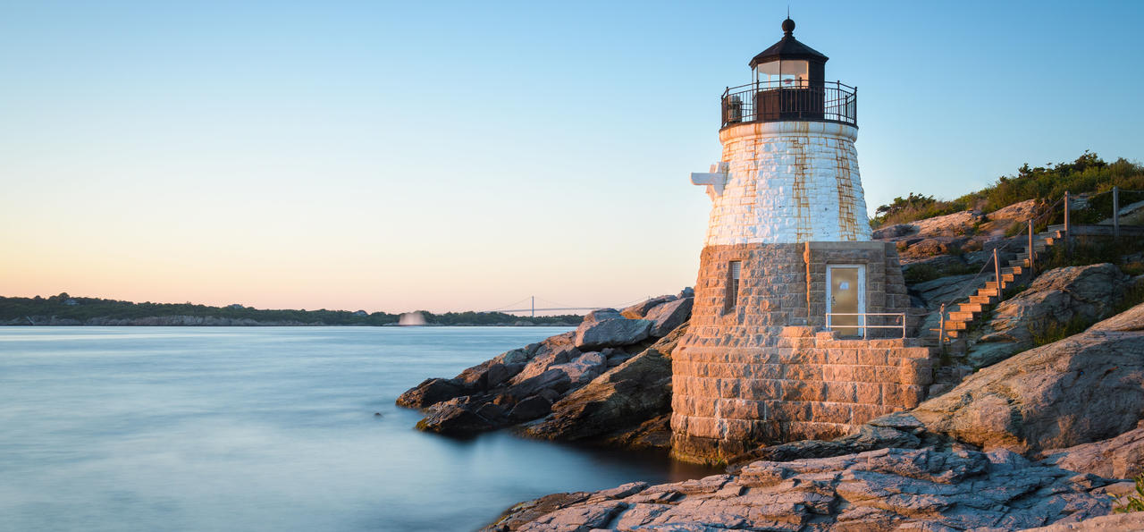 Newport, Castle Hill Lighthouse, Rhode Island