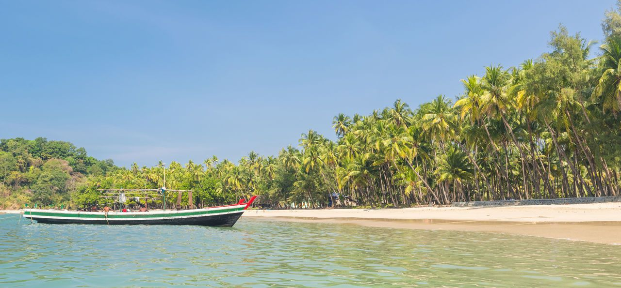 Ngapali Beach on the coast of Burma