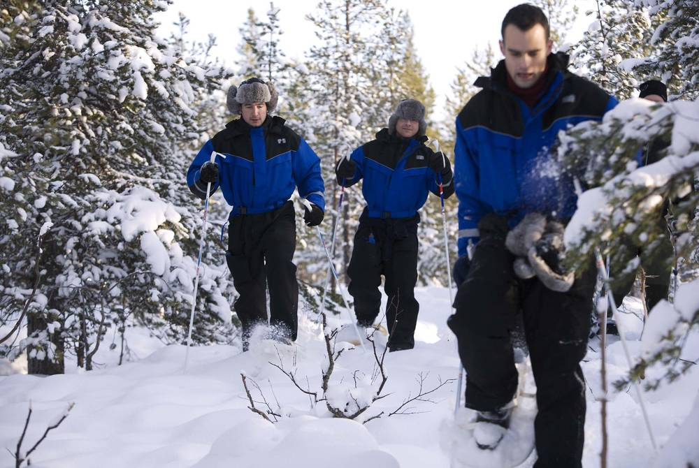 Snowshoeing, Brandon Lodge