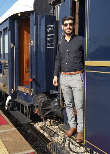 Norire Arakelyan on the Venice Simplon-Orient-Express