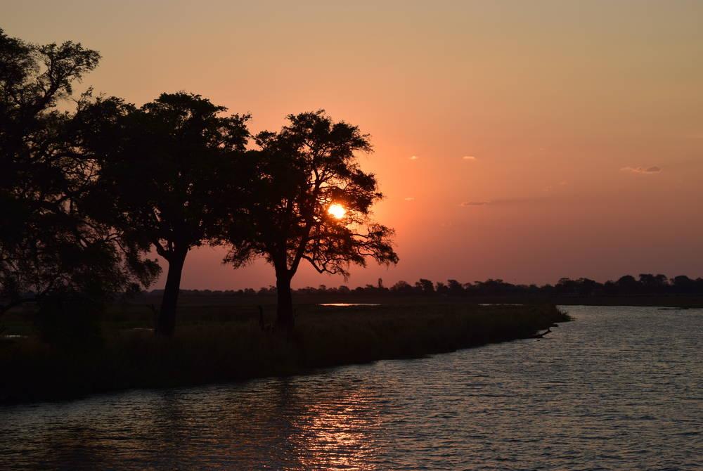 Norire Arakelyan relaxing by the Chobe River, Botswana