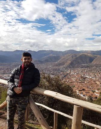Norire Arakelyan in Cusco, Peru
