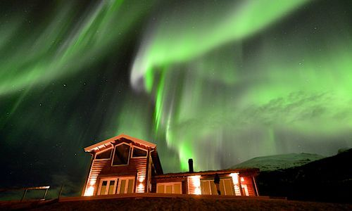 Northern Lights, Lyngen Lodge, Norway