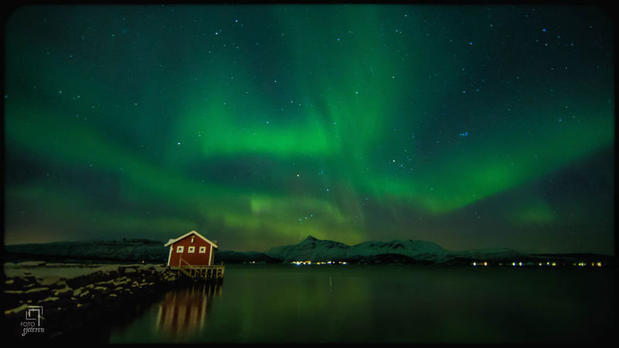 The aurora borealis over Malangen Resort