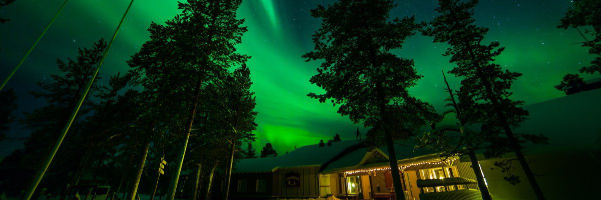 Northern Lights, Muotkan Maja, Lapland, Finland