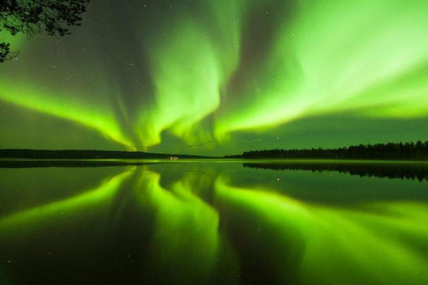 Northern Lights near Rovaniemi, Finnish Lapland
