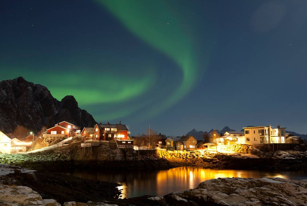 Northern Lights, Svinoya Rorbuer, Lofoten Islands