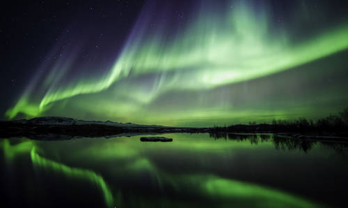 Northern Lights, Thingvellir National Park, Iceland