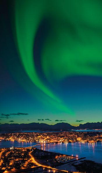 Northern Lights in Tromso, Norway, Scandinavia