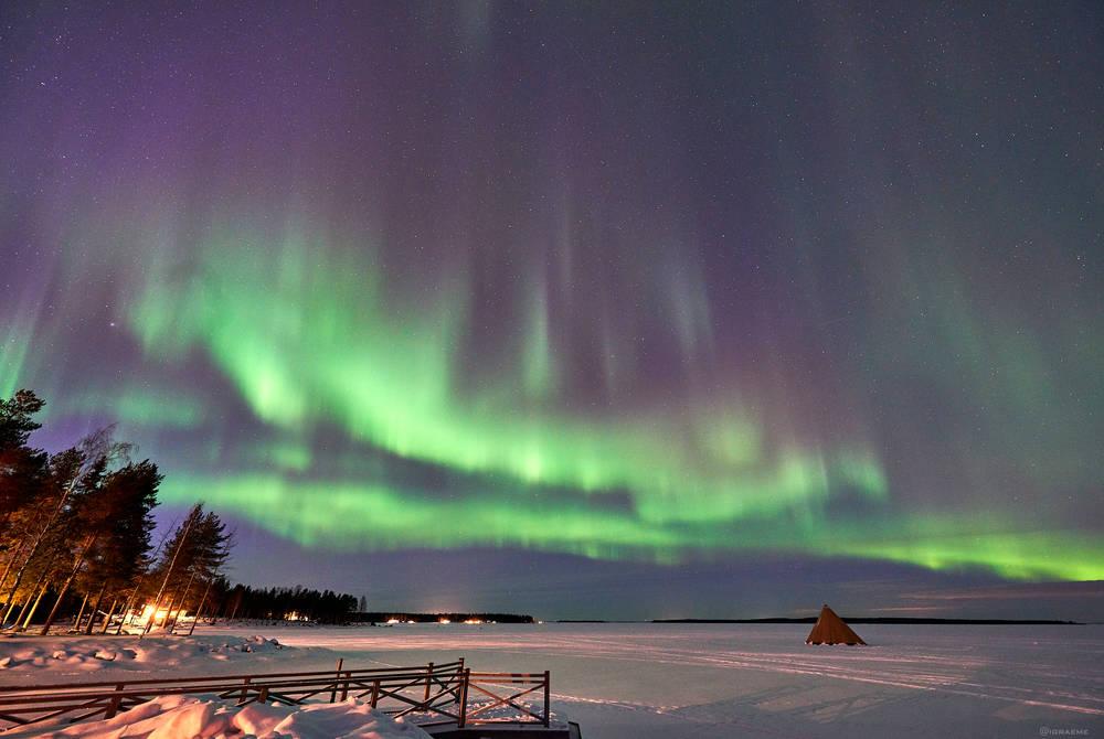 Northern Lights at Brandon Lodge, Swedish Lapland