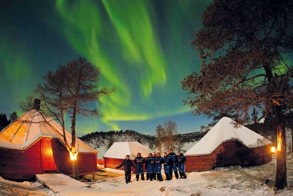 Northern Lights at Camp Nikka