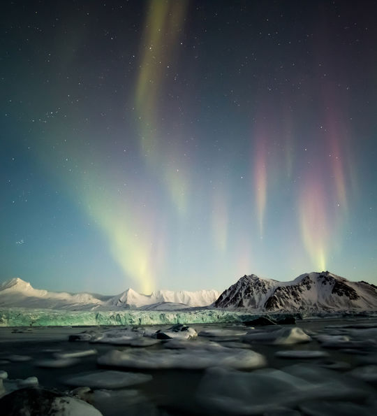Northern Lights in Spitsbergen, Svalbard, Norway