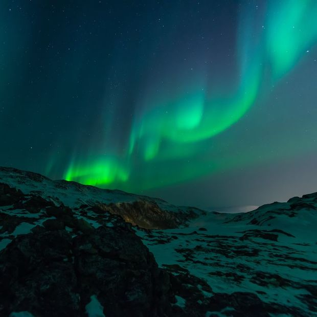 The Northern Lights near Tromso, Norway
