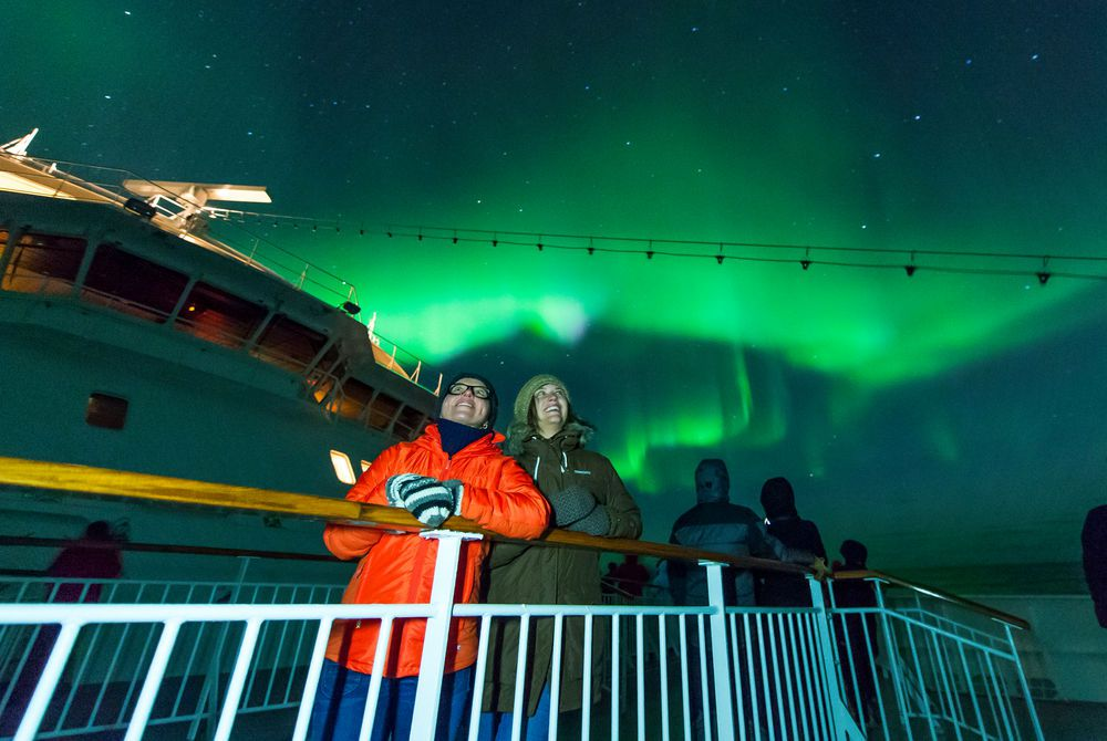 Northern Lights on Hurtigruten, Norway