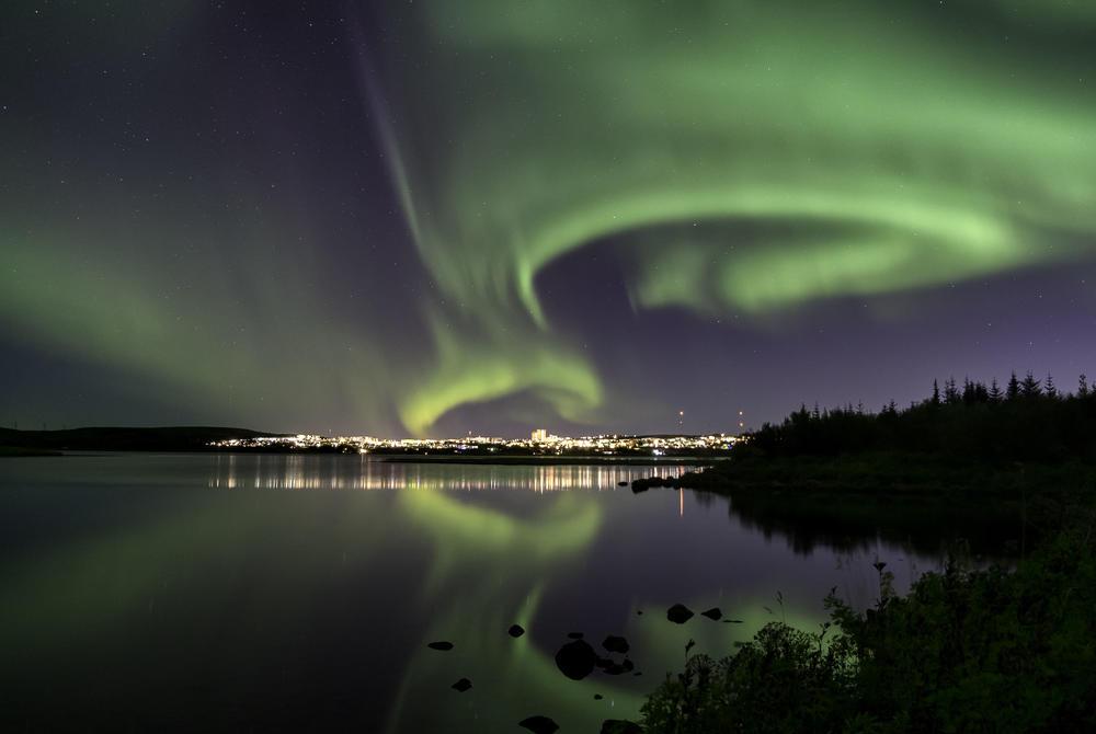 Northern Lights near Reykjavik, Iceland