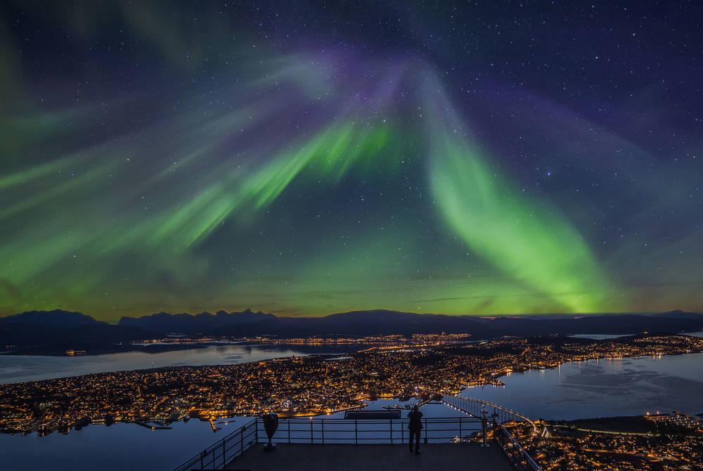 Northern Lights over Tromso, Norway (Credit: Truls Tiller)