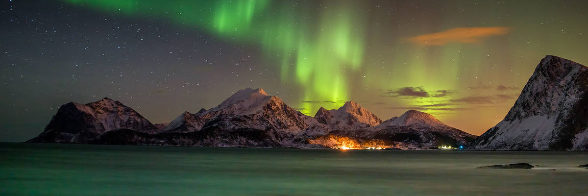 Northern Lights over the Lofoten Islands