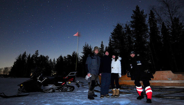 Northern Lights snowmobile sled tour