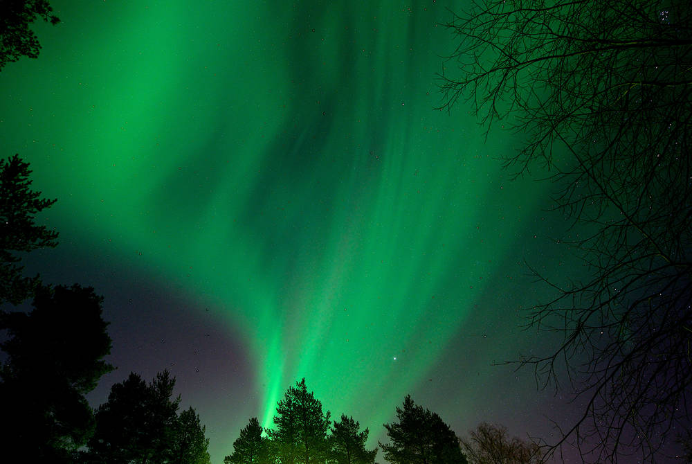 Northern lights at Brandon Lodge