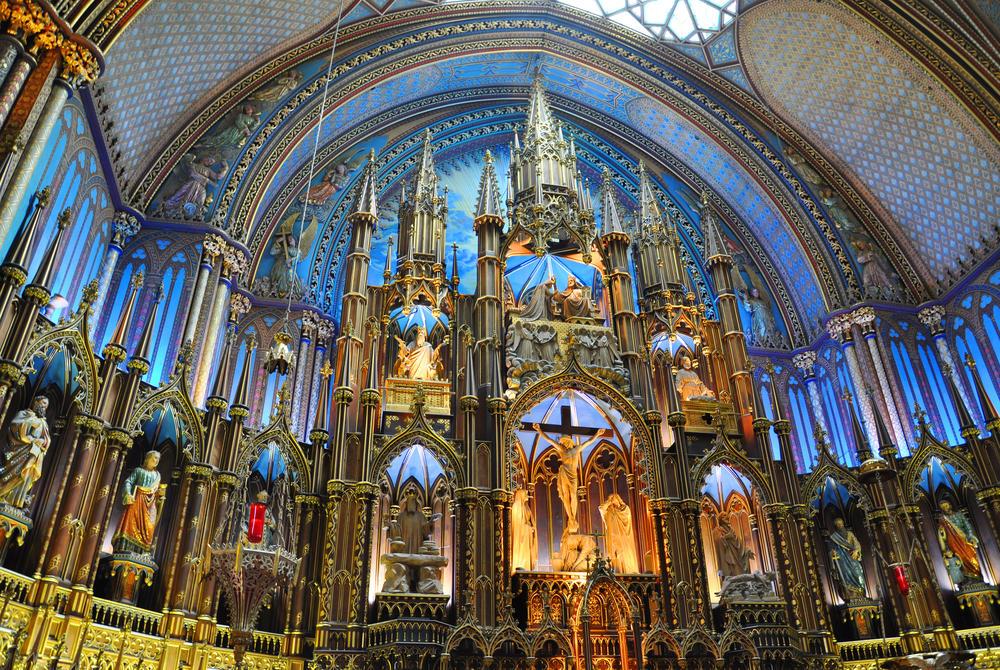 interior of Notre Dame Basilica, Montreal