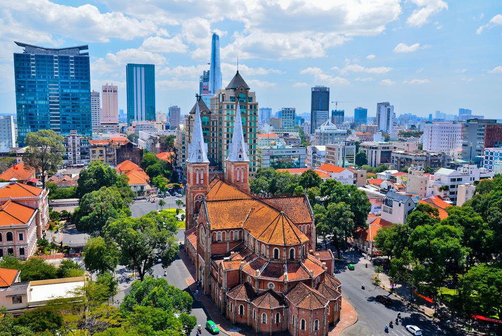 Notre Dame cathedral in Ho Chi Minh City