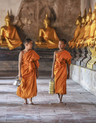 Novice monks, Bangkok