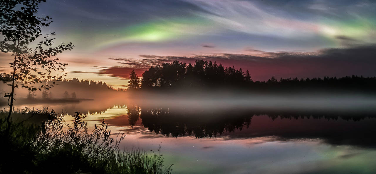 Nurmes Autumn Aurora, Finland