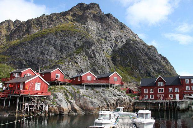 Nusfjord Rorbuer in Norway Lofoten Islands