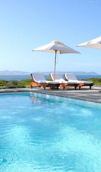 Pool view at Ocean Eleven Guesthouse, Hermanus