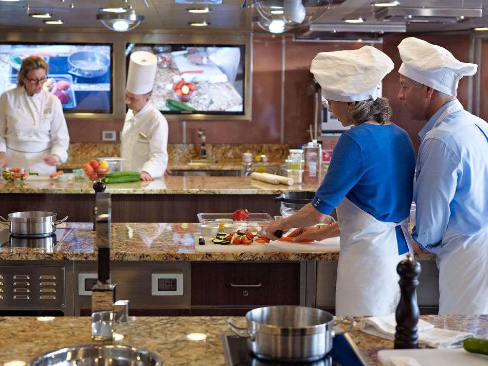 Oceania Cruises Culinary Cenrre on Riviera and Marina