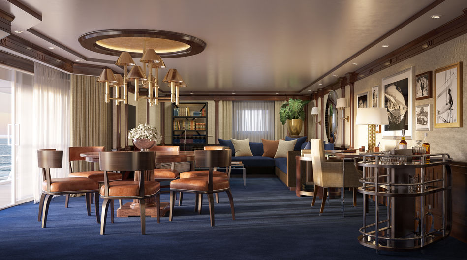 The dining room of the Owner's Suites on Marina and Riviera