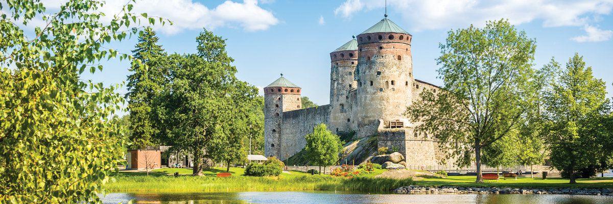 Olavinlinna fortress, Savonlinna center, Finland